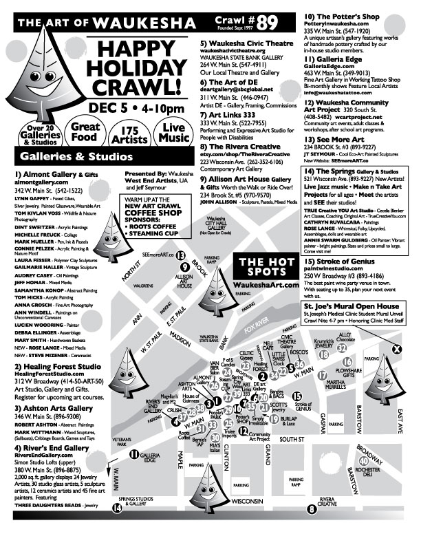 Here is the Waukesha Happy Holiday Crawl #89 Flyer !
